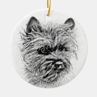 Norwich Terrier Ceramic Ornament
