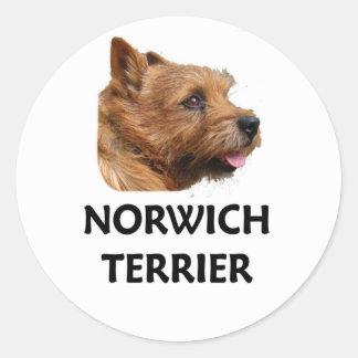 Norwich terrier classic round sticker