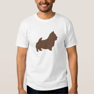 norwich terrier color silhouette t shirts