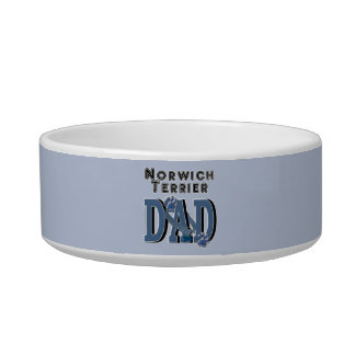 Norwich Terrier DAD Cat Water Bowl