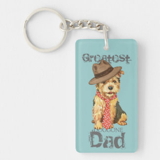 Norwich Terrier Dad Double-Sided Rectangular Acrylic Keychain