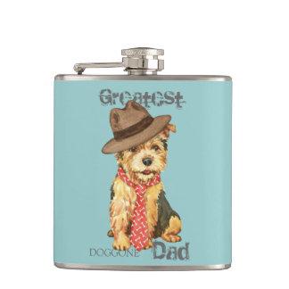 Norwich Terrier Dad Hip Flasks