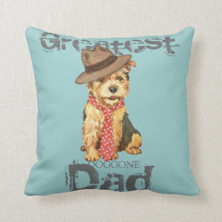 Norwich Terrier Dad Throw Pillows
