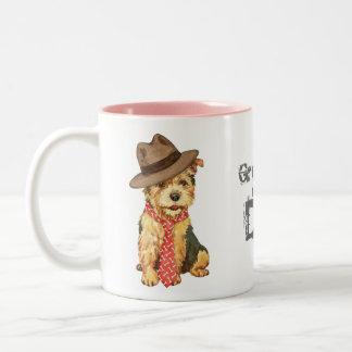 Norwich Terrier Dad Two-Tone Coffee Mug