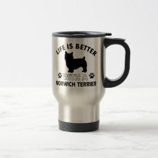Norwich Terrier dog breed designs 15 Oz Stainless Steel Travel Mug