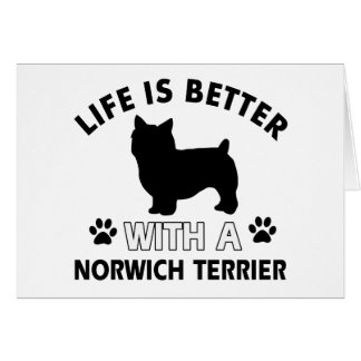 Norwich Terrier dog breed designs Greeting Card
