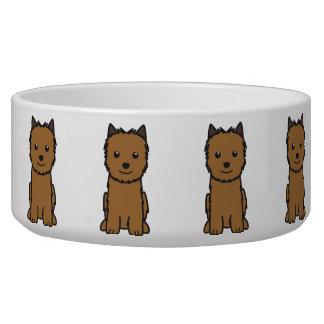 Norwich Terrier Dog Cartoon Dog Bowl