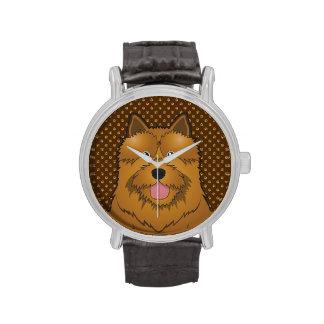Norwich Terrier Dog Cartoon Paws Wrist Watches