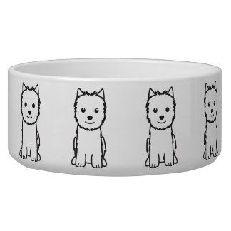 Norwich Terrier Dog Cartoon Pet Water Bowls