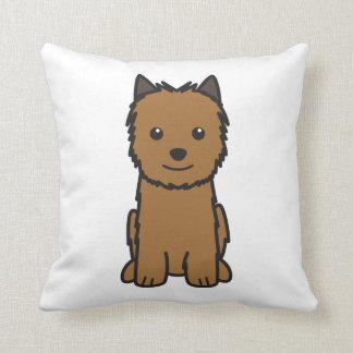 Norwich Terrier Dog Cartoon Throw Pillow