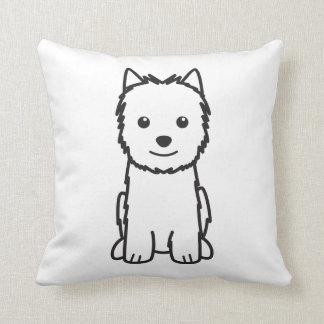 Norwich Terrier Dog Cartoon Throw Pillows