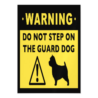 Norwich Terrier Funny Guard Dog Warning Magnetic Card