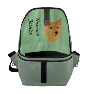 Norwich Terrier ~ Green Leaves Designs Courier Bags