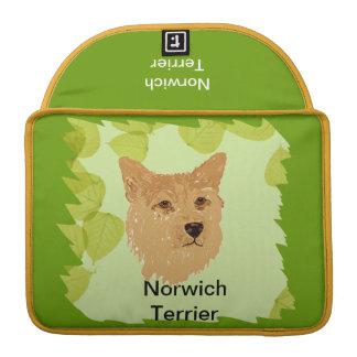 Norwich Terrier ~ Green Leaves Designs MacBook Pro Sleeves