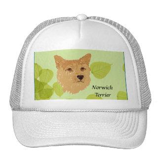 Norwich Terrier ~ Green Leaves Designs Trucker Hat