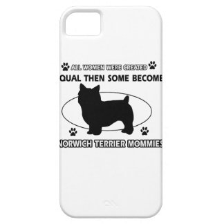 Norwich Terrier Mommy Designs iPhone 5 Cases