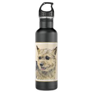 Norwich Terrier Painting - Cute Original Dog Art 710 Ml Water Bottle