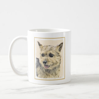 Norwich Terrier Painting - Cute Original Dog Art Coffee Mug