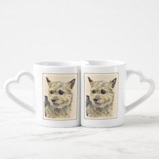 Norwich Terrier Painting - Cute Original Dog Art Coffee Mug Set