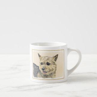 Norwich Terrier Painting - Cute Original Dog Art Espresso Cup