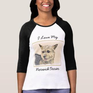 Norwich Terrier Painting - Cute Original Dog Art T-Shirt