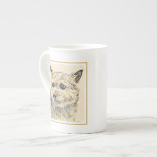 Norwich Terrier Painting - Cute Original Dog Art Tea Cup
