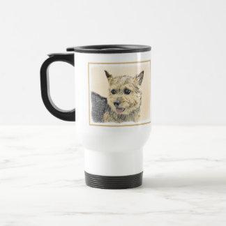 Norwich Terrier Painting - Cute Original Dog Art Travel Mug