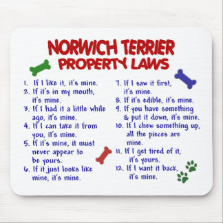 NORWICH TERRIER Property Laws 2 Mouse Pad