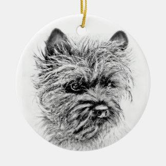 Norwich Terrier Round Ceramic Ornament