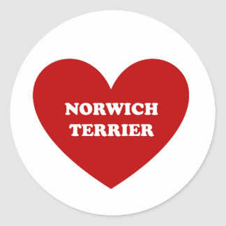 Norwich Terrier Round Sticker