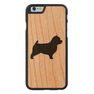 Norwich Terrier Silhouette Carved® Cherry iPhone 6 Slim Case