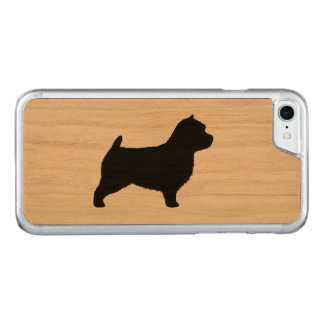 Norwich Terrier Silhouette Carved iPhone 7 Case