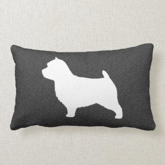 Norwich Terrier Silhouette Lumbar Pillow