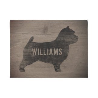Norwich Terrier Silhouette Personalized Doormat
