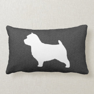 Norwich Terrier Silhouette Pillow