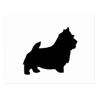 norwich terrier silhouette postcard