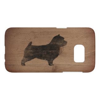 Norwich Terrier Silhouette Rustic Samsung Galaxy S7 Case