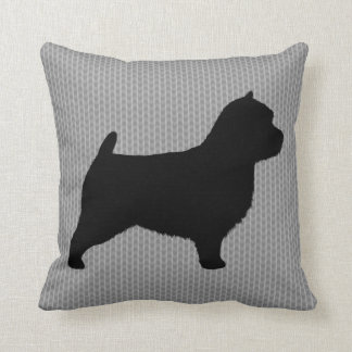 Norwich Terrier Silhouette Throw Pillow