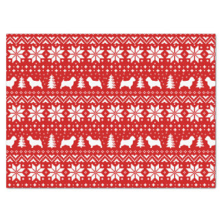 Norwich Terrier Silhouettes Christmas Pattern Tissue Paper