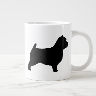 Norwich Terrier Silhouettes Large Coffee Mug