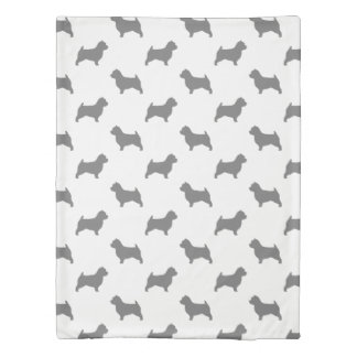Norwich Terrier Silhouettes Pattern Duvet Cover