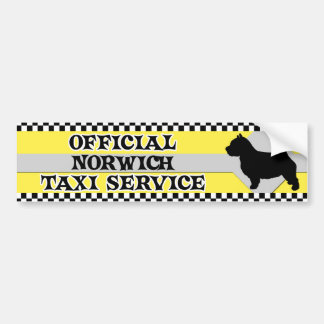 Norwich Terrier Taxi Service Bumper Sticker