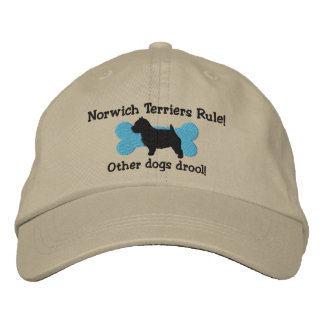 Norwich Terriers Rule Embroidered Hat