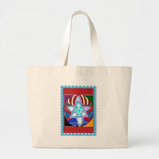 NOSA Karuna Reiki Graphic Healing Symbol Large Tote Bag