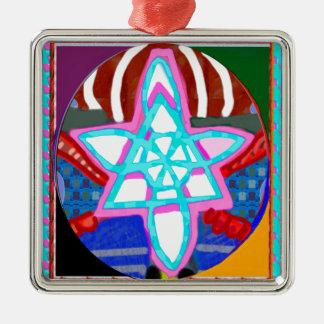 NOSA Karuna Reiki Graphic Healing Symbol Metal Ornament