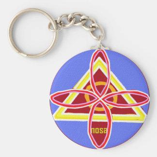 NOSA Karuna Reiki Healing Symbol Graphic Art Basic Round Button Keychain