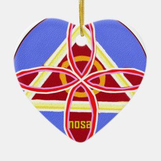 NOSA Karuna Reiki Healing Symbol Graphic Art Ceramic Ornament