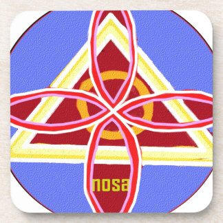 NOSA Karuna Reiki Healing Symbol Graphic Art Coaster