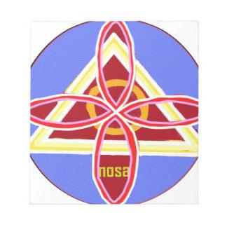 NOSA Karuna Reiki Healing Symbol Graphic Art Notepad