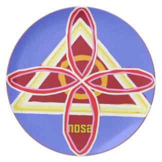 NOSA Karuna Reiki Healing Symbol Graphic Art Plate